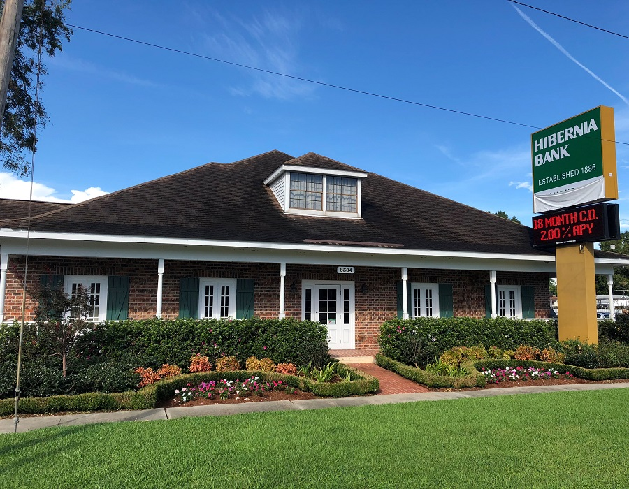 Hibernia Bank Harahan Branch on Jefferson Hwy